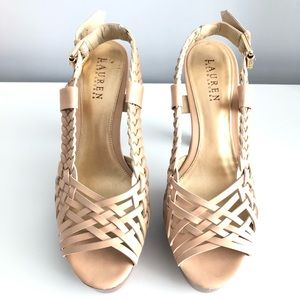 Weaved Platform Sandal by Lauren by Ralph Lauren